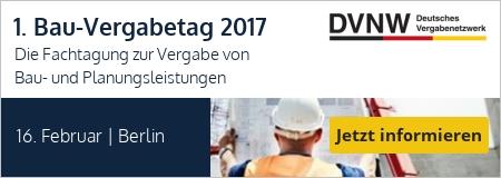 1. Bau-Vergabetag 2017